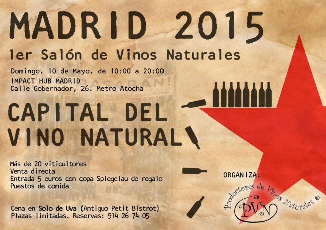 1º SALÓN DE VINOS NATURALES MADRID 2015